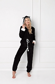 Aruelle -  Kombinezon Catwoman Onesie Black czarny