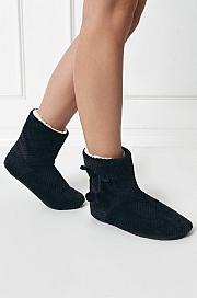 Aruelle -  Pantofle Cassie Dark Blue granatowy