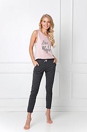 Aruelle -  Piżama Brielle Long różowo-granatowy