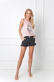 Aruelle -  Piżama Brielle Short różowo-grafitowy