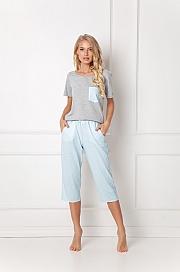 Aruelle -  Piżama Jackie Long szaro-błękitny