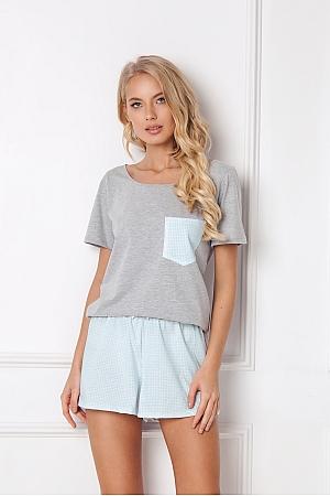 Aruelle -  Piżama Jackie Short szaro-błękitny