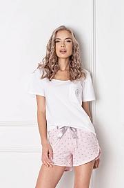 Aruelle -  Piżama Q Short Biało-różowa biało-różowy
