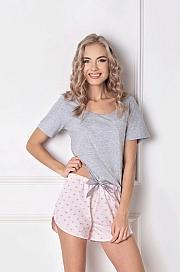 Aruelle -  Piżama Q Short Szaro-różowa szaro-różowy