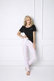 Aruelle -  Piżama Royal Long czarno-różowy
