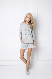 Aruelle -  Piżama Sweet Bear Short szary