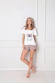 Aruelle -  Piżama Woof Short ecru-mocca