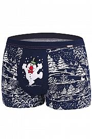 bokserki Cornette Merry Christmas Snowman - foto