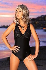 Ewlon -  Kostium kąpielowy Capri  czarny