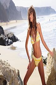 Ewlon -  Kostium kąpielowy Palm Beach  Soft Żółty
