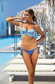 Ewlon -  Kostium kąpielowy Palm Springs  niebieski