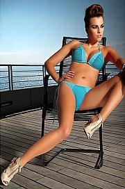 Ewlon -  Kostium kąpielowy Roxy Lazurowy lazurowy