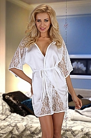 Magnolia dressing gown white - Beauty Night
