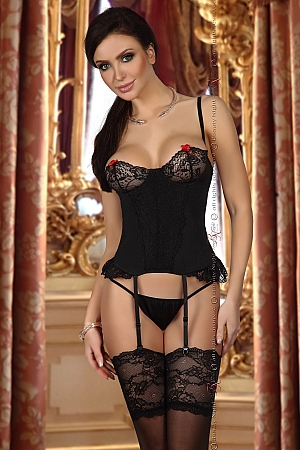 Shirley corset black - Beauty Night