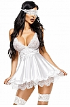 Eve chemise with mask white - Beauty Night