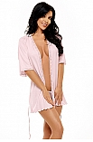 Marcy dressing gown pink - Beauty Night