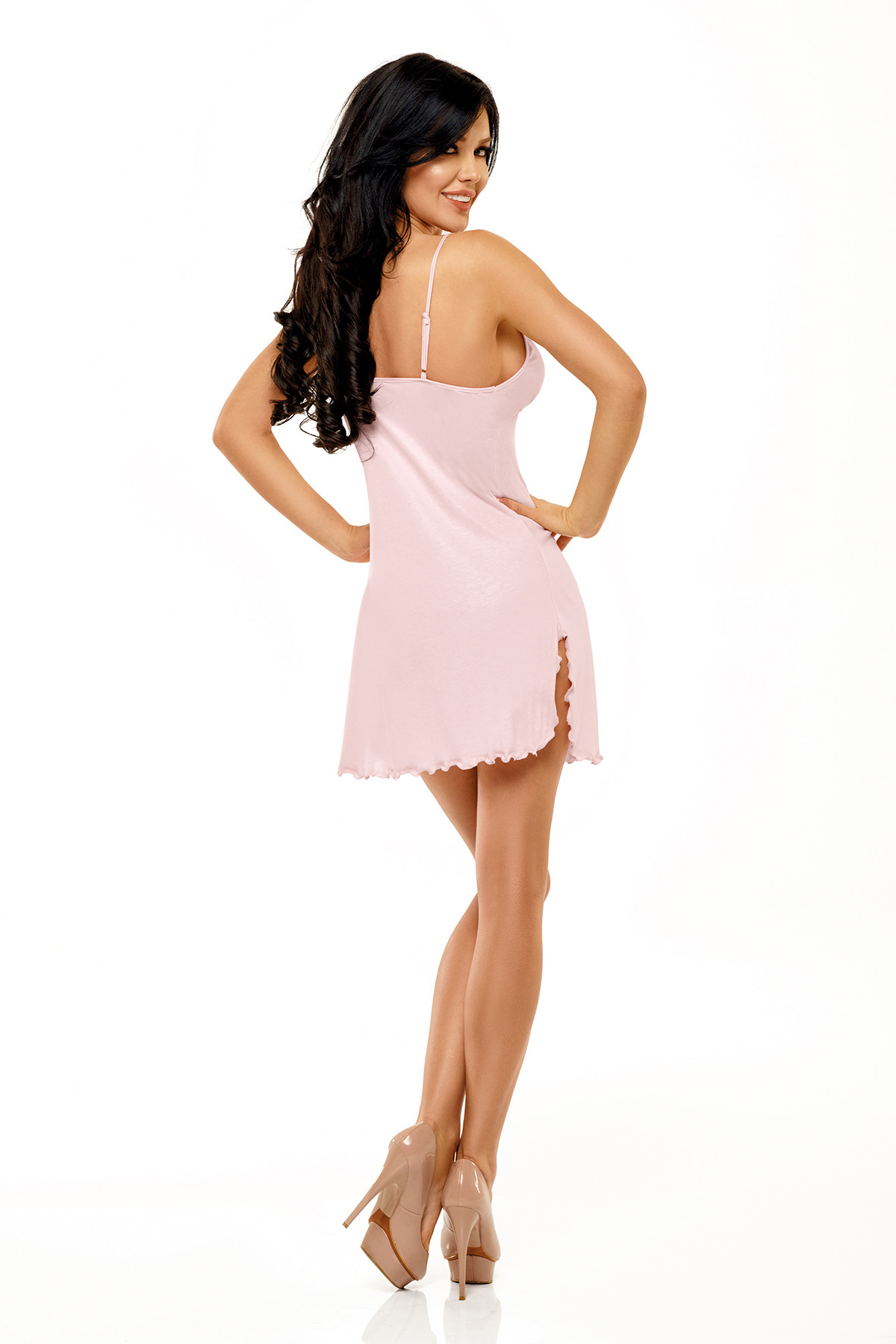 Marcy chemise pink - Beauty Night