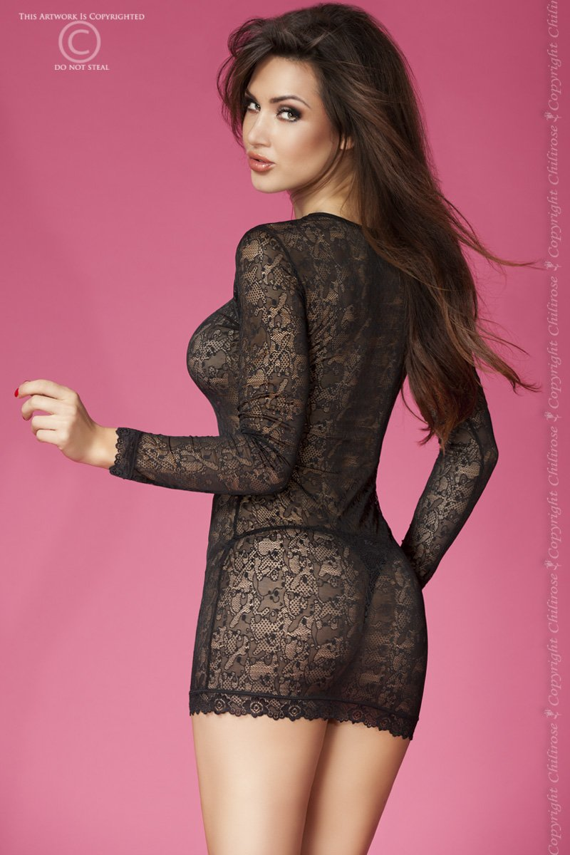 CR-3672 Lace Mini Dress - sukienka - Chilirose