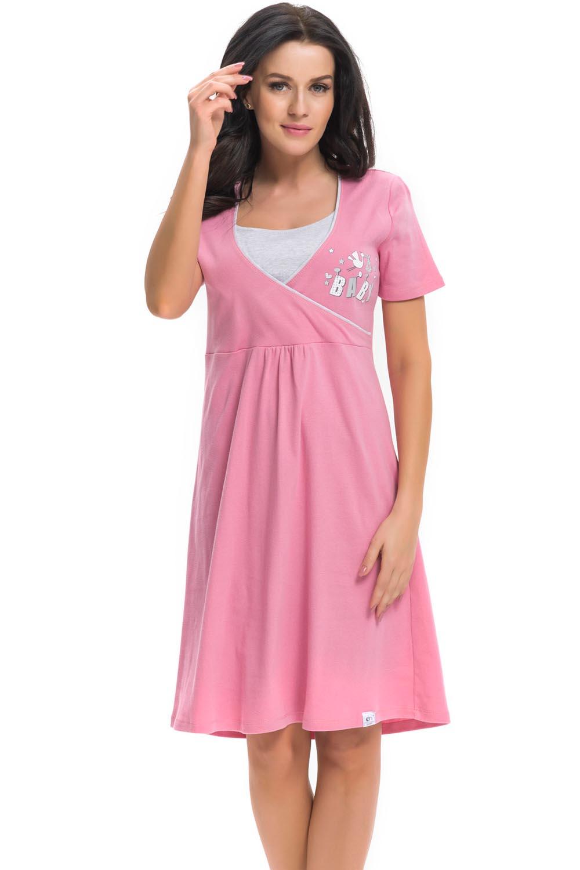 Dn-nightwear TCB.3049 - Koszula ciążowa - Dobranocka
