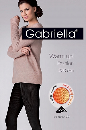 wzorzyste Gabriella Warm up! Fashion 200 Den code 412