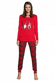 Italian Fashion Santa dł.r. dł.sp. - czerwony/druk