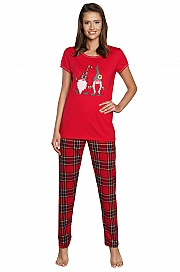 Italian Fashion Santa kr.r. dł.sp. - czerwony/druk