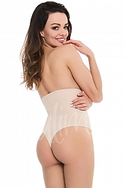 Julimex Shapewear 275 Stringi Wysoka Talia - natural