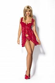 Kinga Lingerie de Femme -  Peniuar  Seduce Red PE-114 + stringi GRATIS! czerwony