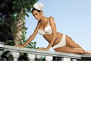 Kinga Lingerie - Stringi Belle 733 biały