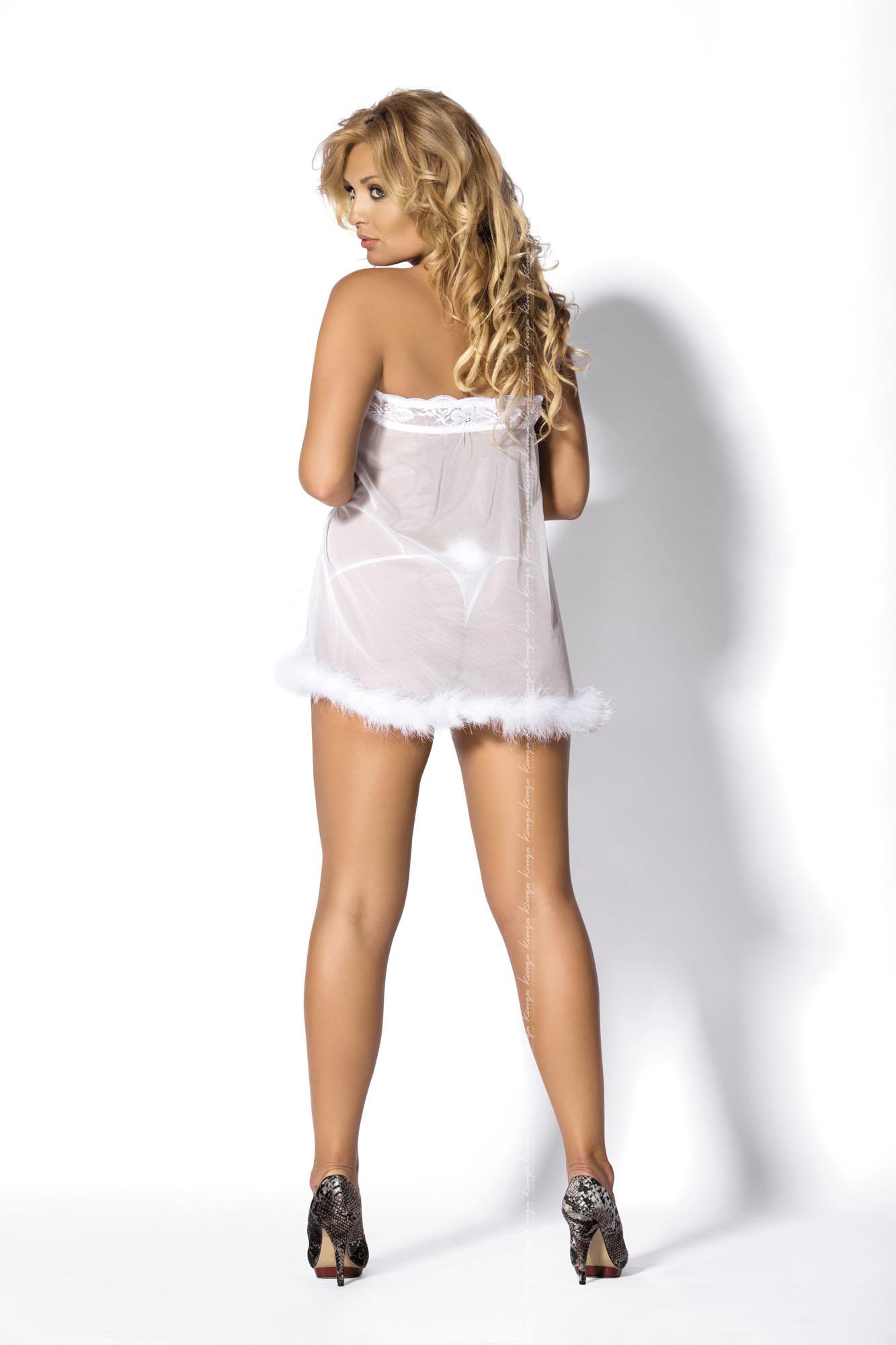 Kinga Lingerie de Femme -  Peniuar  Caress White PE-221 + stringi GRATIS! biały Foto 2