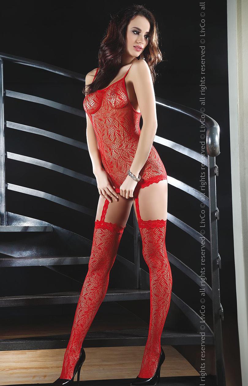 Livia Corsetti - Catriona Red bodystocking LC 17093