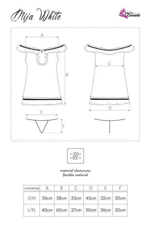 livia Mija White koszulka LC 90172