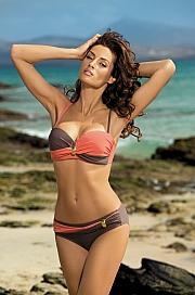 Marko - Kostium kąpielowy Liliana Cubano-Flamingo M-259 Koralowo-brązowy  jak na zdjęciu