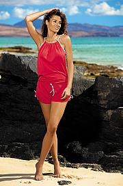 Marko - Tunika Leila Anaranjado M-312 czerwona  jak na zdjęciu