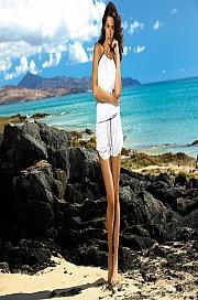 Marko - Tunika Leila Bianco M-312 biała  jak na zdjęciu