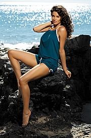 Marko - Tunika Leila Venetial M-312 ciemnozielona  jak na zdjęciu