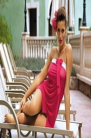 Marko - Tunika Mia Fresia M-241 Różowa  jak na zdjęciu