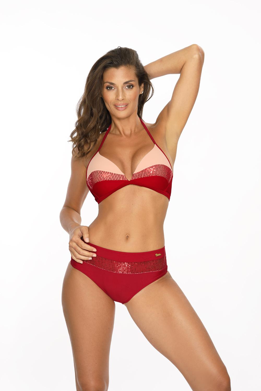 Marko - Kostium kąpielowy Nataly Cocinella-Nude M-565  czerwono-kremowy Foto 2