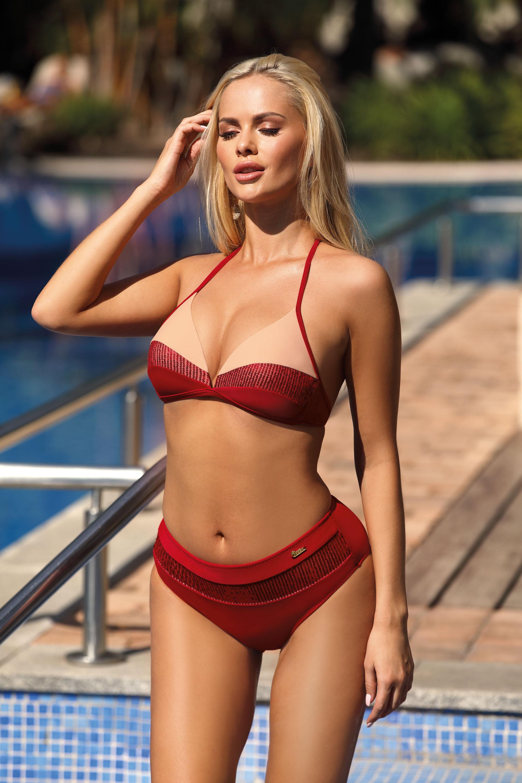 Marko - Kostium kąpielowy Nataly Cocinella-Nude M-565  czerwono-kremowy Foto 1