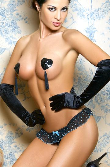 French Kiss - stringi i rękawiczki - Mia Doux