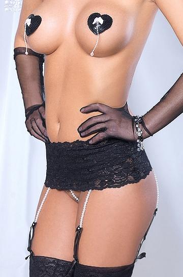La Perla BLK - pas do pończoch - Mia Doux