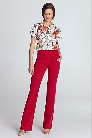 Nife - Spodnie z wysokim stanem - czerwony