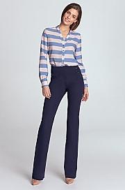 Nife - Spodnie z wysokim stanem - fiolet