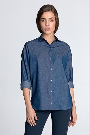 Nife - Koszula oversize - jeans