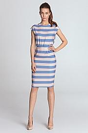 Nife - Sukienka ołówkowa - fiolet/paski