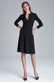 Nife - Sukienka zapinana na napy - czarny