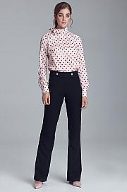 Nife - Spodnie garniturowe z napami - czarny
