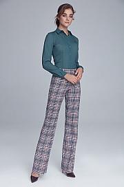 Nife - Spodnie garniturowe z napami - krata/pepitko