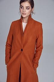 Nife - Miodowy płaszcz jednorzędowy