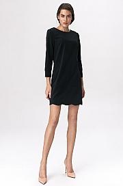 Nife - Czarna sukienka z dekoltem na plecach